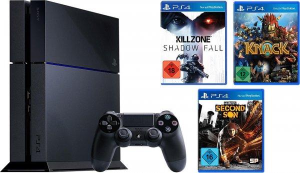 PS4 mit Killzone: S.F., Knack + inFamous für 404€ inkl. Versand @ Amazon.de