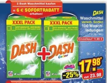 [Netto MD] 2x dash XXXL Pack für 17,98€ (=0,09€ pro WL)