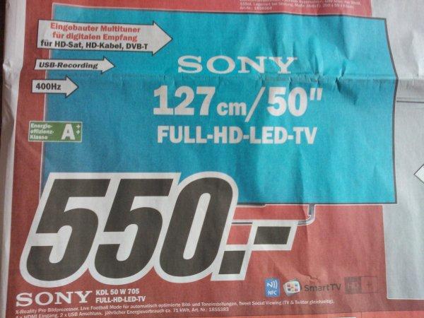 """[LOKAL Media Markt Wiesbaden] 50"""" Sony KDL 50 W 705 Full-HD LED-TV"""