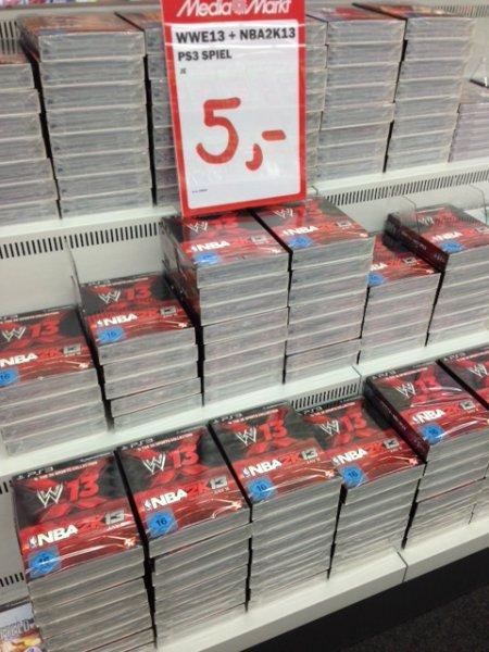 PS3 NBA 2K13 & WWE13 5 € Media Markt Bayreuth