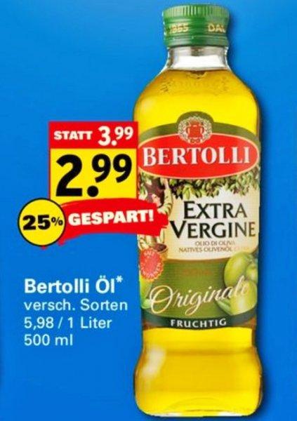 Bertolli Olivenöl 500ml für 2,99 € bei Netto mit Scotty ab Montag 1.9