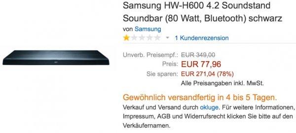Samsung HW-H600 4.2 Soundbar