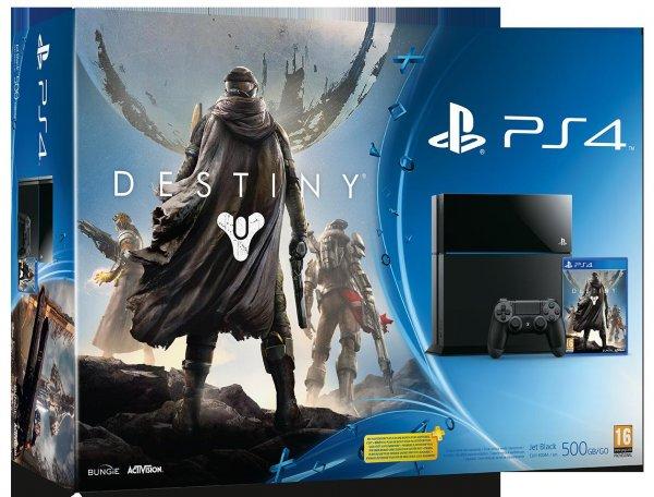 Sony Playstation 4 500 Gb inklusive Destiny für 399,99 Euro 31.08.14