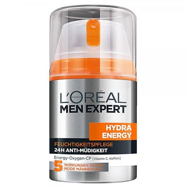 L'Oréal Paris Men Expert Hydra Energy Feuchtigkeitspflege Anti-Müdigkeit, 50ml für 3,96€ zzgl. VK, ab 30€ VK-frei