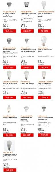 LED Leuchtmittel - Rabatt ab einer Bestellmenge von 3 Stück (LCTW)