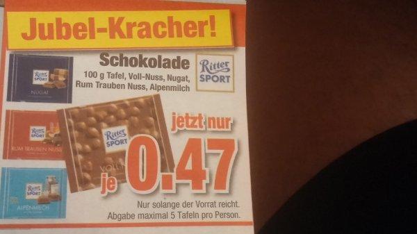 Ritter Sport Schokolade - Möbel Hardecke