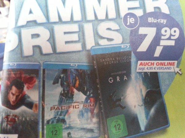 Real Bluray (Gravity, Man of Steel usw) für 7,99€