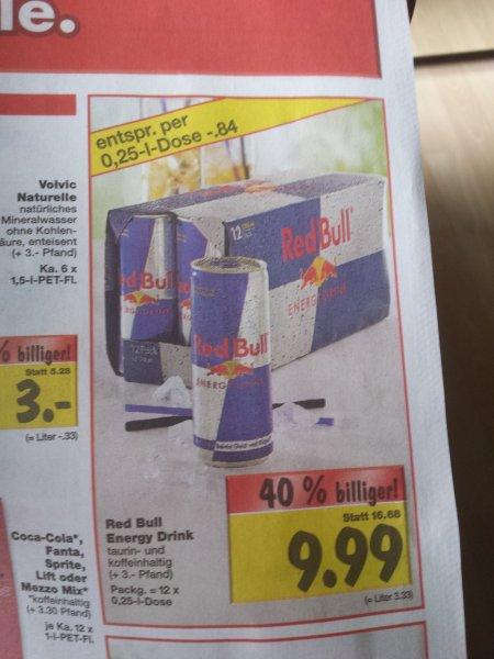 [lokal, Kaufland] Red Bull für 84 ct/Dose