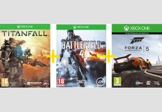 Titanfall + Battlefield 4 + Forza 5 Motorsport Racing (als Download) im Bundle für Xbox One online bei saturn.at