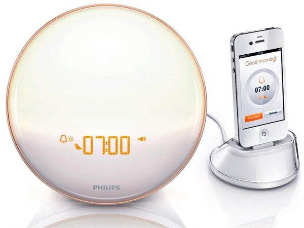 Philips HF3550/01 Wake-Up Light (nur mit iPhone 4S/4/3GS nutzbar) weiß
