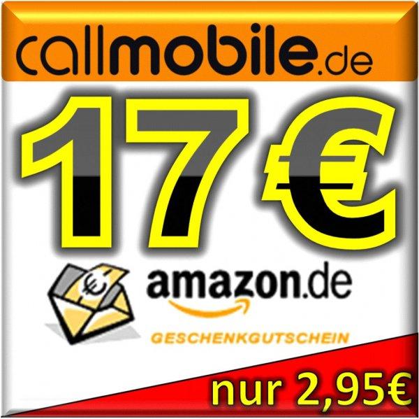 Nachschub:callmobile SIM-Karte + 17,00 EURO AMAZON Gutschein KOSTENLOS