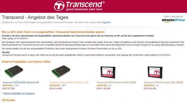 Transcend - Amazon Angebot des Tages