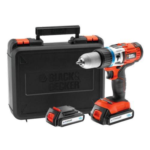 "Black&Decker™ - 18V Li-Ionen Akku-Schlagbohrschrauber ""EGBHP188BK"" (inkl.Koffer+2 Akkus) für €119,99 [@eBay.de]"