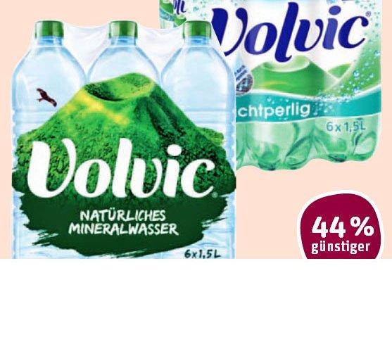 Volvic  Mineralwasser 6 x 1,5l naturell oder leichtperlig 2,99 € @Tegut