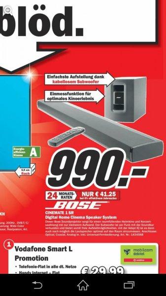 Bose Cinemate 1 SR für 990€ (Preisvergleich lt. Idealo: 1289€) [lokal MM Mülheim]