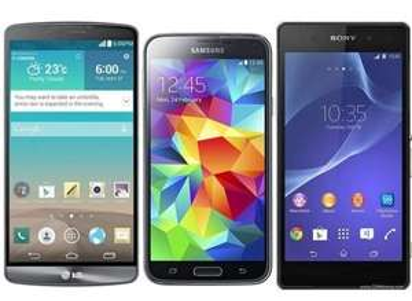 Samsung Galaxy S5 / Xperia Z4 444€, G3 399€, @Base, S4 I9515 299€
