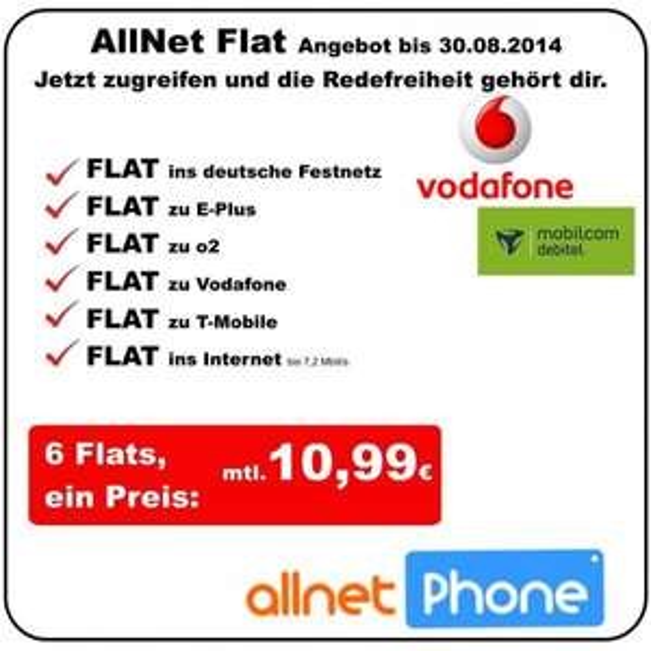 Vodafone RED XS @mobilcom debitel