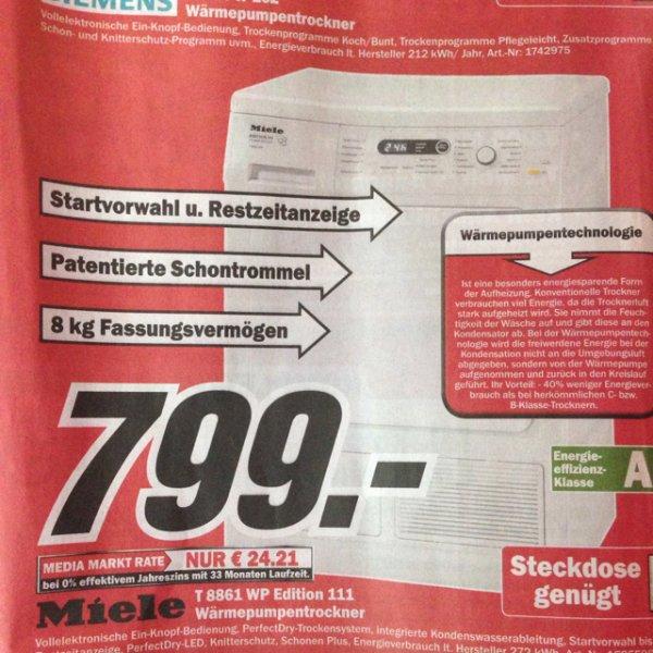 (Krefeld)Miele T 8861 WP 111 Wärmepumpentrockner