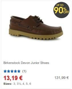 [sportsdirect.com] Birkenstock Junior Devon Schuhe ab 13,19€ (VSK 5,99€)