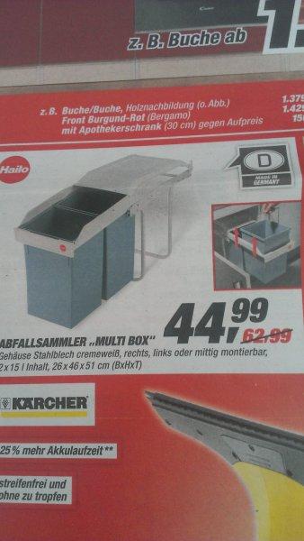 """[Toom] Abfallsammler """"Multi Box"""" von Hailo.  2 x 15 Liter, passt unter fast jede Spüle"""