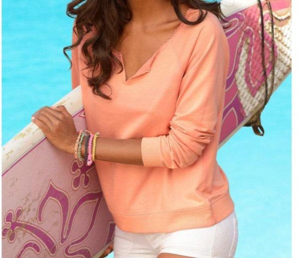 Sweatshirt von Venice Beach Baumwolle für 8,50 € statt 34,99 € keine VSK apricot Gr 32/34 und 36/38 bei otto.de