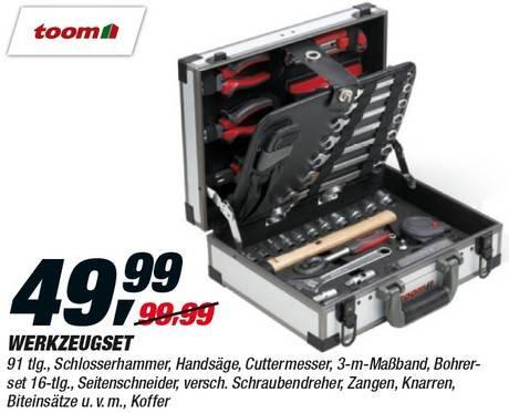 Werkzeugkoffer 91 tlg., gute Qualität, 10 Jahre Garantie