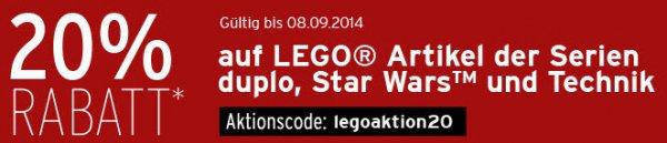 [Karstadt online] Lego duplo, Star Wars und Technic: 20% auf viele Artikel + Kostenlose Lieferung in Filiale oder ab 20€