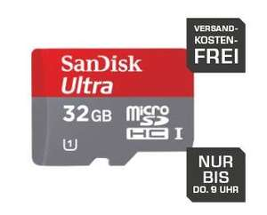 SANDISK microSDHC Ultra 32GB, Class 10, UHS-I, 30MB/Sec, + SD-Adapter