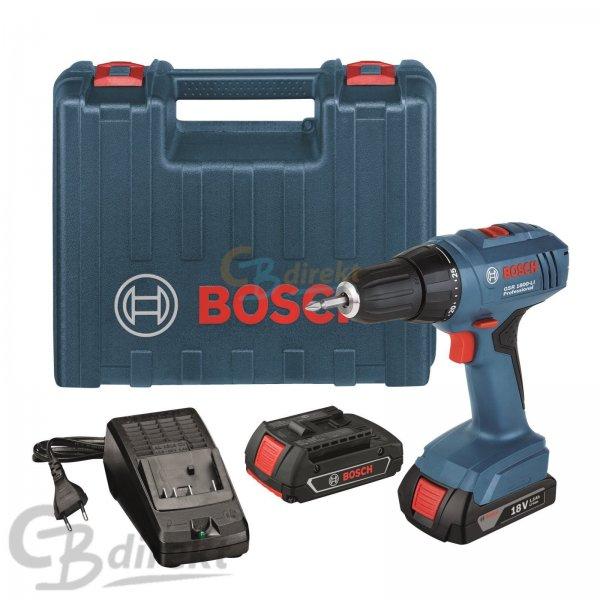 Bosch GSR 1800-LI Professional mit 2 Akkus + Koffer für 111€ @ eBay