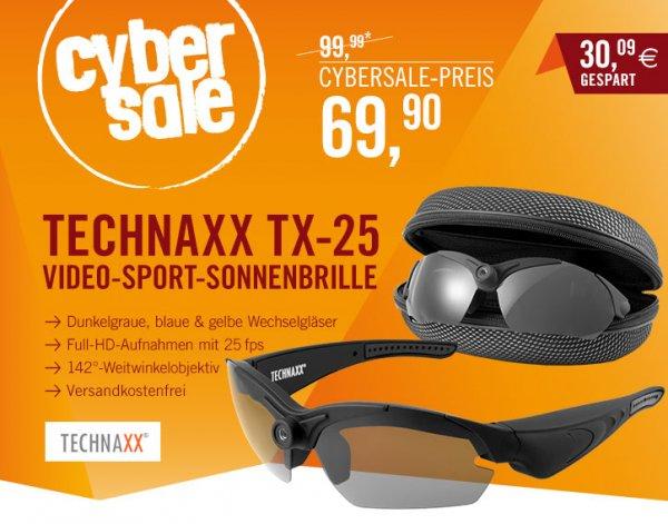 Technaxx TX25 Video-Sport-Sonnenbrille Full HD im Cybersale für Voyeure und Sportler