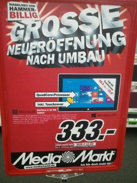 [Stuttgart City] Media Markt MICROSOFT Surface 2 32GB (+ Office) mit Touchtastatur 333,-