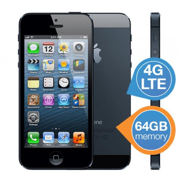 Apple iPhone5 Schwarz 64 GB - refurbished