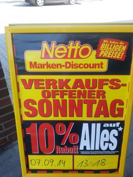 [Berlin][Netto Markendiscount] 10% Rabatt am Verkaufsoffenen Sonntag 07.09.2014