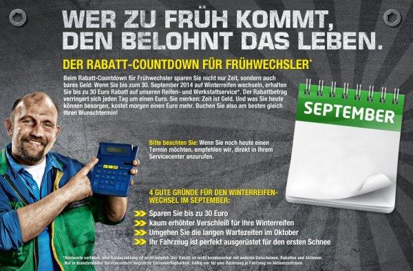 Winterreifenwechsel (RÄDER UMSTECKEN) für 0€ bei Euromaster + 10€ ARAL Waschmarke + Urlaubscheck! + 5€ GS