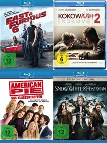 Blu-ray - Fast&Furious 6 / Snow White & the Huntsman / Kokowääh 2 / American Pie - Das Klassentreffen ab je €4,92 [@Saturn.de]