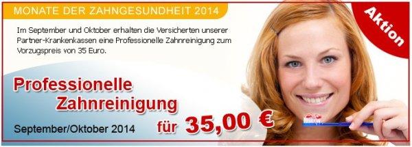Kostenlose Zahnbürste oder Professionelle Zahnreinigung für 35 EUR
