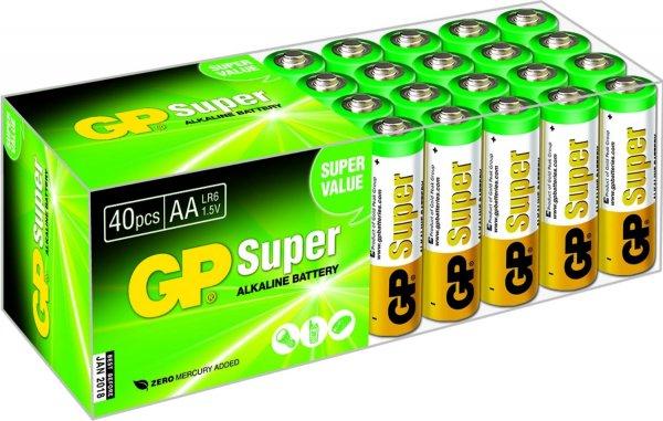 GP LR06 Mignon AA Super Alkaline (40-er Pack) (Amazon Prime)