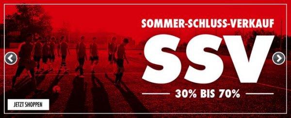 [11Teamsports] Sommerschlussverkauf 30 % - 70 % reduzierte Artikel