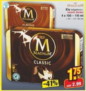 [Netto MD] Magnum Eis 4er Packung für 1.75€