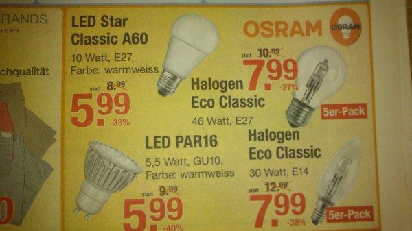 [lokal] OSRAM LED Star Classic A60 E27 im V-Markt