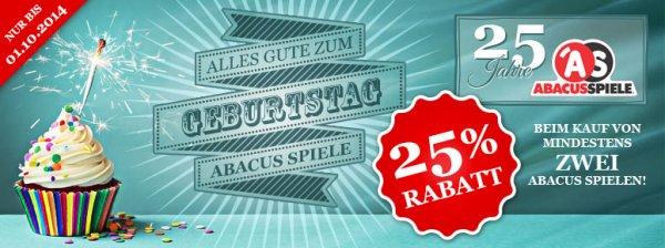 Spiele-offensive.de - Bestelle zwei Abacus Spiele und erhalte 25% auf den Gesamtpreis