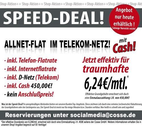 50x Mobilcom Debitel Telekom Allnet-Flat mit 300MB Internet für 6,24 Euro im Monat