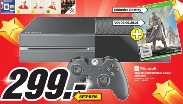 [Lokal MediaMarkt Porta Westfalica] Xbox One (ohne Kinect) inkl. Destiny für 299€
