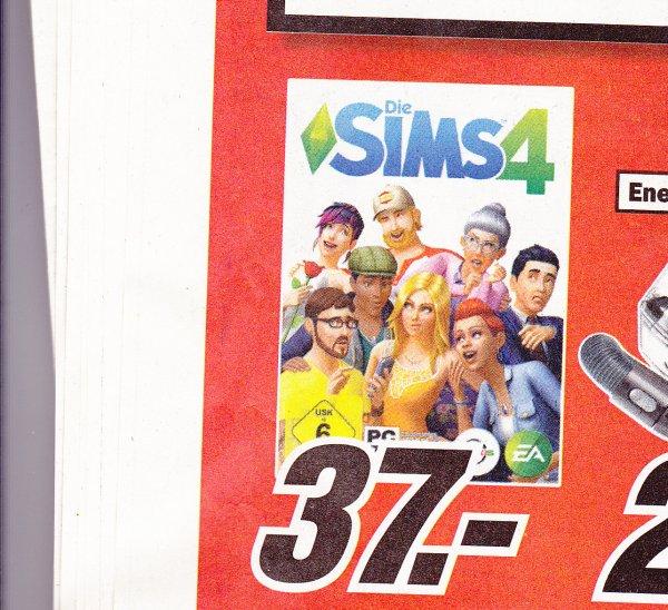 (LOKAL Escheiler) Die Sims 4 PC für 37€ nur Heute Media Markt