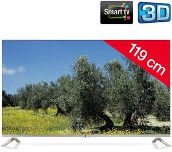 [2% Qipu] LG 47LB671V Cinema 3D LED-Backlight-Fernseher, EEK A+ (Full HD, 700Hz MCI, DVB-T/C/S, CI+, Wireless-LAN, Smart TV, 2.1 Soundsystem, 24 Watt) für 614,98€ inkl. Versand @pixmania
