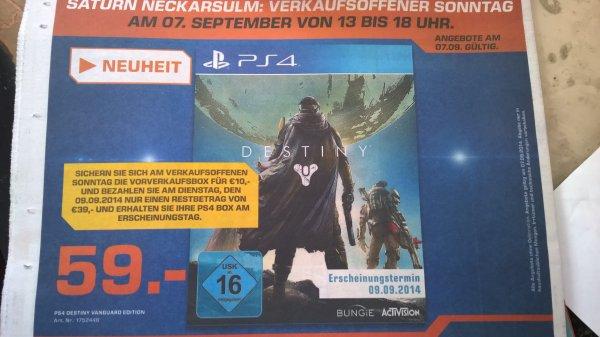 [Lokal] Destiny für PS4 für 49,- € im Saturn Neckarsulm