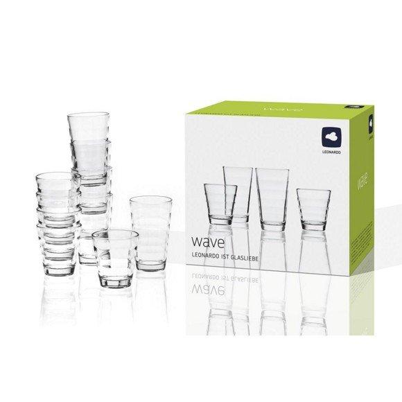 [XXXL-Shop] LEONARDO 24 tlg. Gläserset (12 x 200 ml + 12 x 280 ml) + Füllartikel