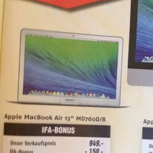 Apple MacBook Air 13 MD760D/B-lokal evtl.bundesweit