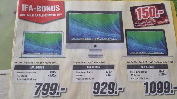 Medimax Hannover 150€ IFA Rabatt auf Apple Produkte