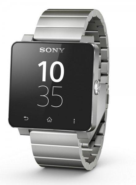 Sony SmartWatch 2 SW2 Handy-Uhr für Smartphones ab Android 4.0, Bluetooth/NFC, Metall-Armband - Silber